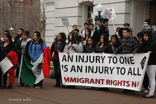Immigration workers' rights protest